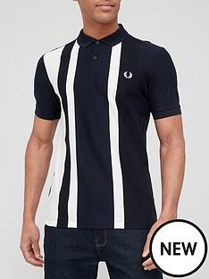 fred-perry-woven-colour-block-polo-shirt-navy