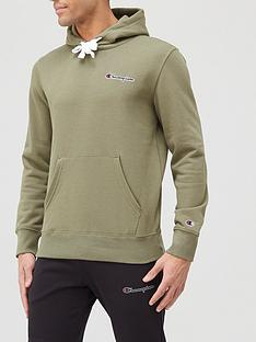 champion-small-logo-overhead-hoodie-khaki