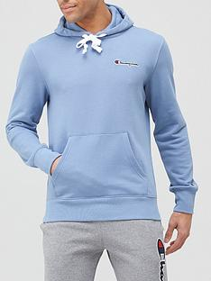 champion-small-logo-overhead-hoodie-blue