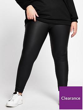 ri-plus-ri-plus-high-waist-coated-legging-black