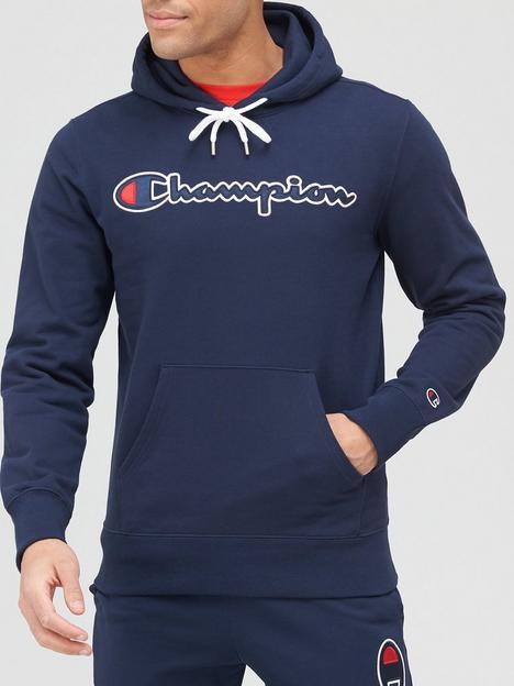 champion-logo-overhead-hoodie-navy