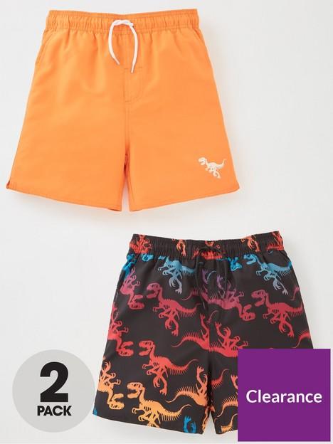 v-by-very-boys-2-pack-dinoplain-swimshorts-multi