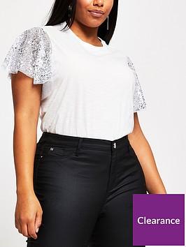 ri-plus-nbspsequin-sleeve-t-shirtnbsp--neutral