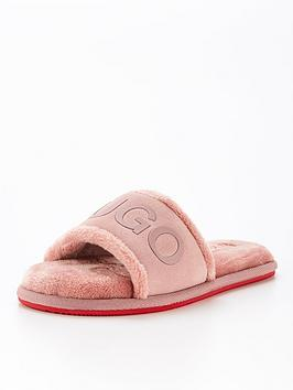 hugo-cozy-slider-slipper-pink