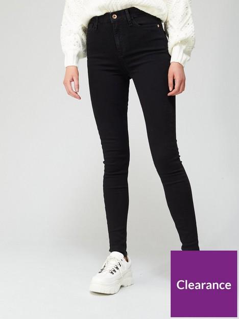 river-island-tall-high-waist-super-skinny-jean-black