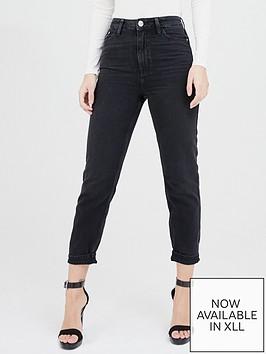 river-island-high-waist-mom-jeans-washed-black