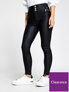 ri-petite-ri-petite-zip-pocket-pu-skinny-trouser-black