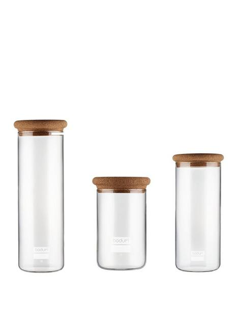 bodum-yohki-set-of-3-storage-jars-with-cork-lid