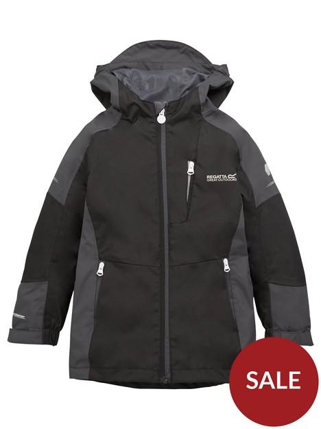 regatta-boys-junior-calderdale-ii-hooded-jacket-blackgrey
