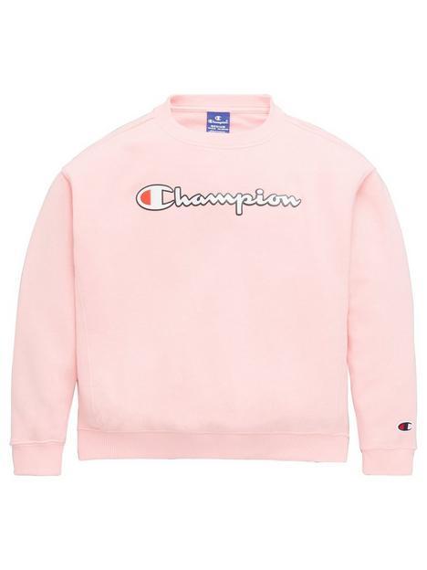 champion-girls-crewneck-sweatshirt-pink