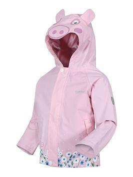 regatta-girls-peppa-pignbspanimal-jacket-pink
