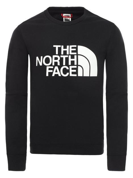 the-north-face-unisex-drew-peak-light-crew-neck-sweat-to-black