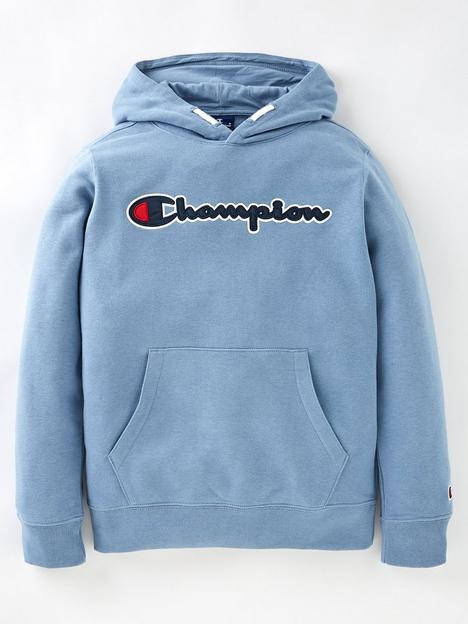 champion-boys-hooded-sweatshirt-light-blue