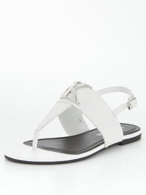 calvin-klein-jeans-jeans-logo-flat-sandals-white