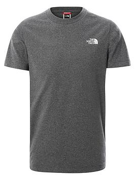 the-north-face-unisex-short-sleeve-simple-dome-t-shirt-grey