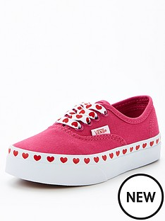 vans-uy-authentic-love-heart-trim-pinkrednbsp