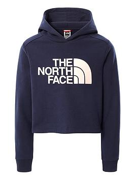 the-north-face-girls-drew-peak-crop-pullover-hoodie-navy