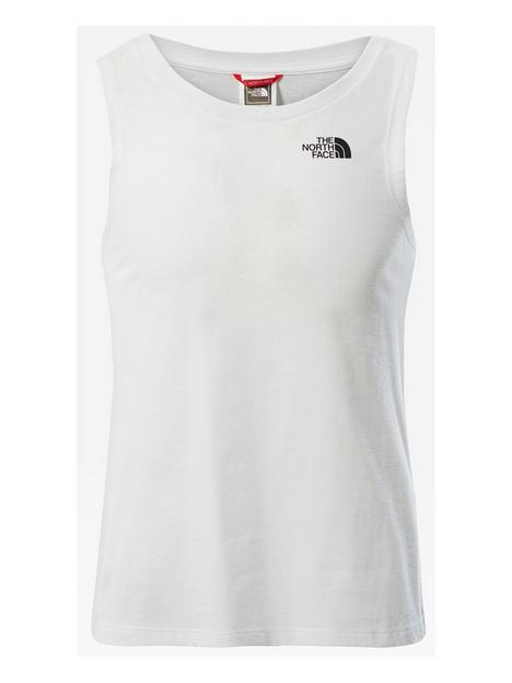 the-north-face-girls-simple-dome-tank-white