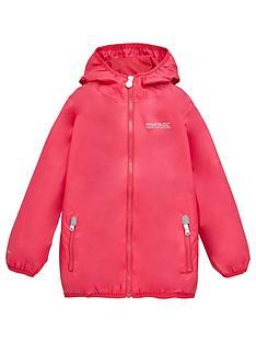 regatta-girls-lever-ii-waterproof-jacket-pink