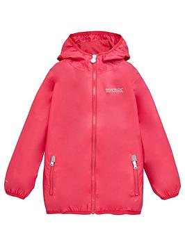 regatta-girls-lever-ii-waterproof-jacket-pink
