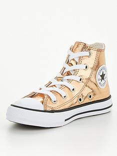 converse-chuck-taylor-all-star-childrensnbsphi-shine-hi-top-plimsolls-gold