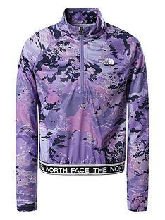 the-north-face-girls-reactor-14-zip-wind-jacket-purple