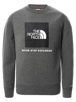 the-north-face-unisex-box-crew-neck-sweat-top-grey