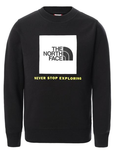 the-north-face-unisex-box-crew-neck-sweat-top-black