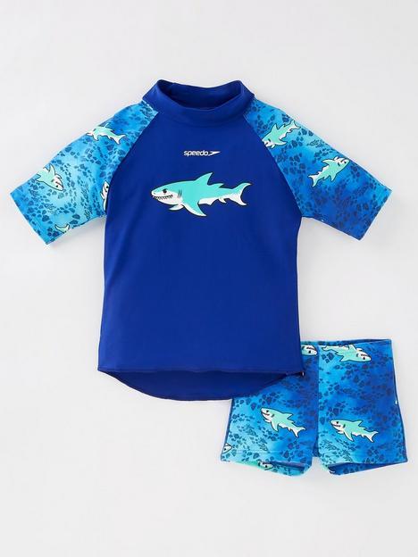speedo-infant-boys-sun-protection-top-amp-shortsnbspset-blue