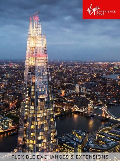 virgin-experience-days-visit-to-the-view-from-the-shard-and-three-course-champagne-celebration-dining-with-sides-at-marco-pierre-whites-london-steakhouse-co-for-two
