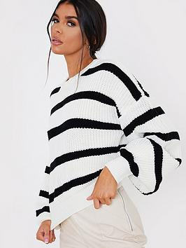 in-the-style-in-the-style-x-lorna-luxenbspstripe-knit-jumper-white