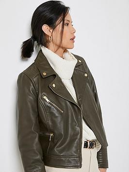 mint-velvet-leather-biker-jacket-khaki