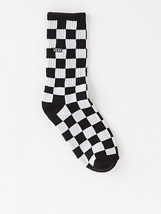 vans-boys-checkerboard-crew-socks-1pack-blackwhite