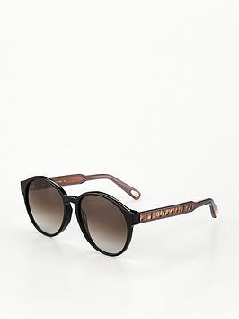 chloe-willow-round-sunglasses-black