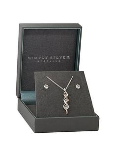 simply-silver-sterling-silver-925-two-tone-cubic-zirconia-jewellerynbspset