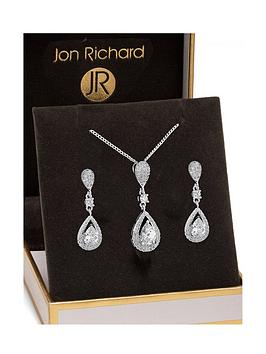 jon-richard-silver-crystal-pave-3-tier-pear-drop-set