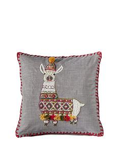 gallery-festive-llama-cushion-grey-450x450mm