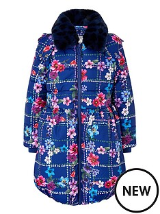 monsoon-girls-recycled-floral-check-padded-coat-navy