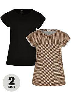 river-island-leopard-and-black-turn-back-t-shirt-multi