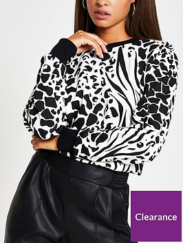 river-island-animal-print-shoulder-pad-jumper-print