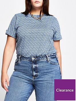ri-plus-ri-plus-all-over-branded-turn-back-sleeve-t-shirtnbsp--blue