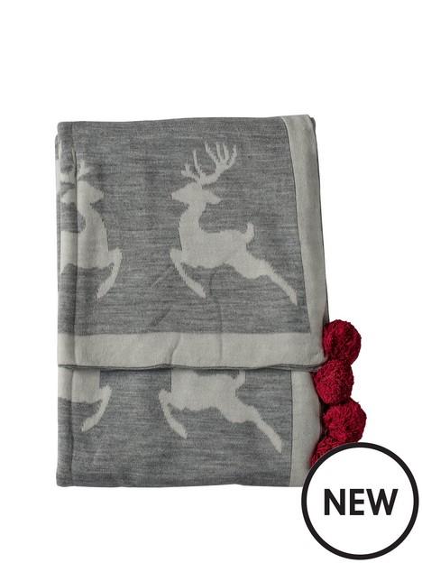 gallery-dancing-reindeers-pom-pom-throw-grey-1300x1700mm