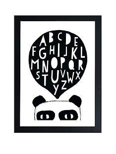 east-end-prints-pandalphabet-by-seventy-tree-a3-framed-print