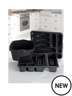 wham-casa-3-piece-kitchen-tidy-set--nbspblack