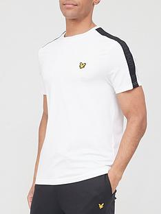 lyle-scott-fitness-tape-stretch-t-shirt-white