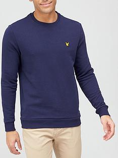lyle-scott-fitness-back-print-crew-mid-layer-navy
