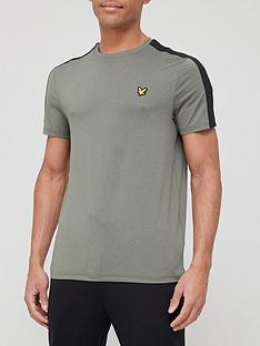 lyle-scott-fitness-tape-stretch-t-shirt-cactus