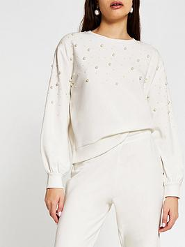 river-island-pearl-detail-jumper-white