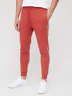 lyle-scott-fitness-contrast-piping-sweatpants-orange