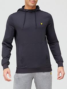 lyle-scott-fitness-superwick-pullovernbsphoodienbsp--black